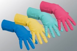 Резиновые перчатки для защиты рук от моющих средств