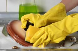 Резиновые перчатки для защиты рук от химикатов