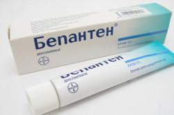 Мазь Бепантен при аллергии