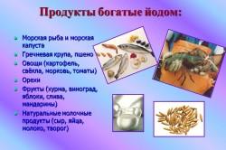 Продукты богатые йодом