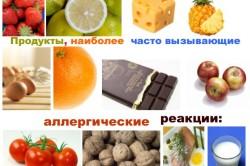 Продукты, которые могут вызывать аллергию