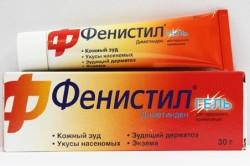 Фенистил гель для лечения кожной аллергии