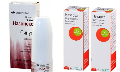 Назонекс или Назарел применяют при воспалительных заболеваниях слизистой носа