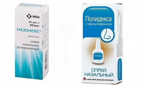 Назонекс и Полидекса назначают для устранения симптомов аллергических реакций, вирусных и бактериальных заболеваний